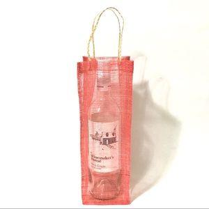 Red Artisan Wine Bottle Gift Bag